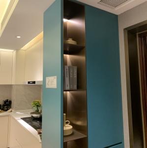 不锈钢金属装饰---客厅书房展示柜